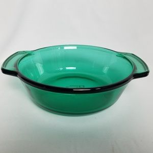 Anchor green glass round 1.5 qt. casserole
